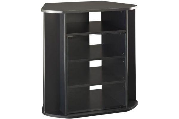 Bush Furniture Visions Tall Black Corner TV Stand - MY37927-03