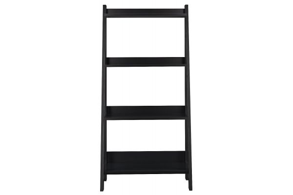 Bush Furniture Alamosa Classic Black Ladder Bookcase - MY72716-03