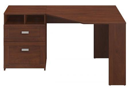 Bush Furniture Wheaton Hansen Cherry Reversible Corner Desk - MY72813-03