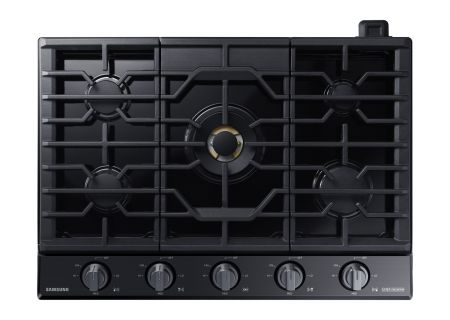"""Samsung Chef Collection 30"""" Black Stainless Steel Gas Cooktop - NA30M9750TM"""