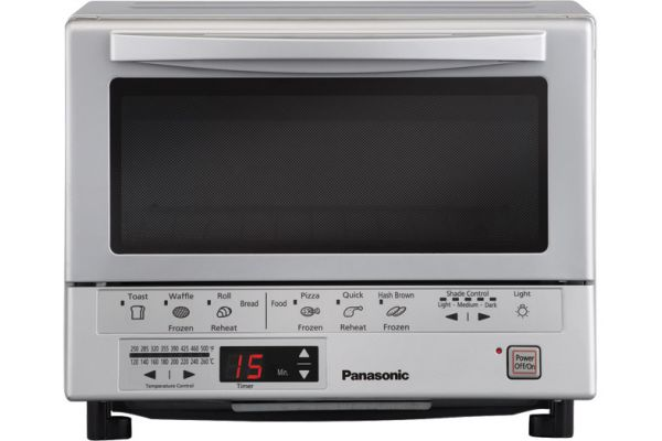 Panasonic FlashXpress Double Infrared Heating Silver Toaster Oven - NB-G110P