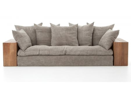 Four Hands Bowery Collection Dorset Stonewash Heavy Jute Taupe Sofa Kit - NBWY-031K-420