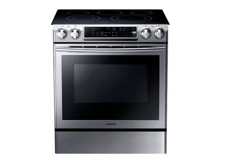 Samsung Stainless Steel 5.8 Cubic Foot Slide-In Electric Range - NE58F9500SS