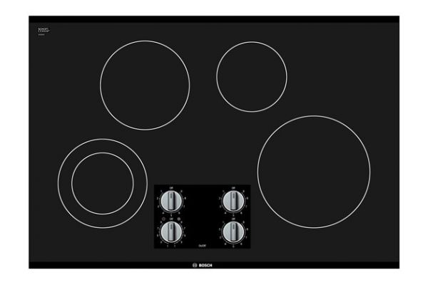 """Bosch 500 Series 30"""" Black Frameless Electric Cooktop  - NEM5066UC"""