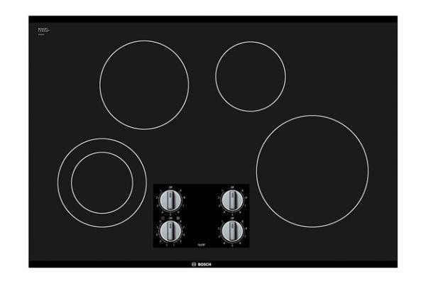 "Large image of Bosch 500 Series 30"" Black Frameless Electric Cooktop  - NEM5066UC"