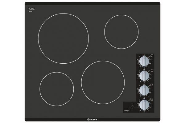 "Large image of Bosch 24"" 500 Series Black Electric Cooktop - NEM5466UC"