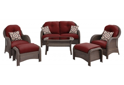 Hanover - NEWPORT6PC-RED - Patio Furniture