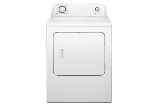 Large image of Amana 6.5 Cu. Ft. White Front Loading Gas Dryer - NGD4655EW