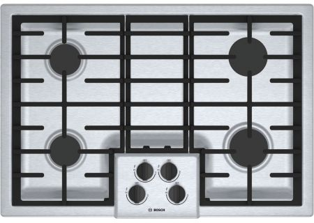 "Bosch 500 Series 30"" Stainless Steel 4 Burner Gas Cooktop  - NGM5056UC"