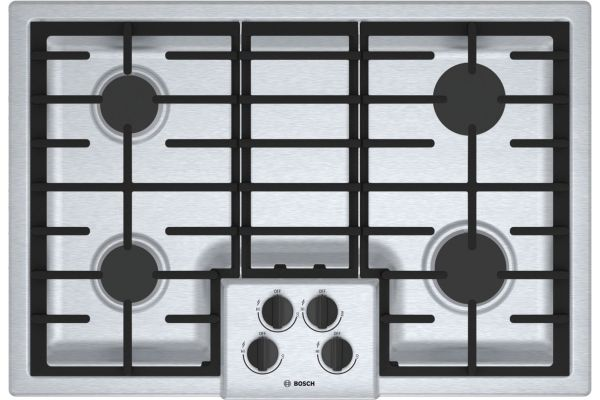 "Bosch 500 Series 30"" Stainless Steel 4 Burner Gas Cooktop  - NGM5056UC"