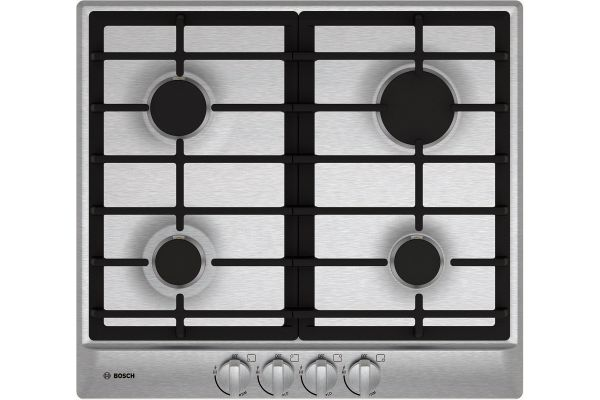"Large image of Bosch 24"" 500 Series Stainless Steel Gas Cooktop - NGM5456UC"