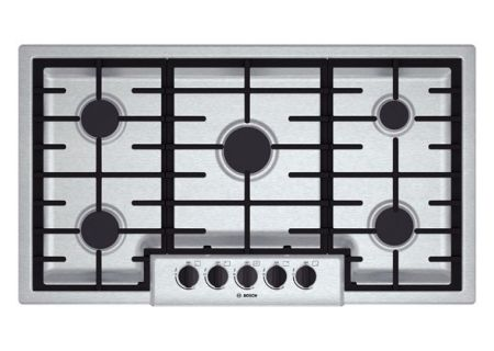 """Bosch 500 Series 36"""" Stainless Steel Gas Cooktop  - NGM5655UC"""