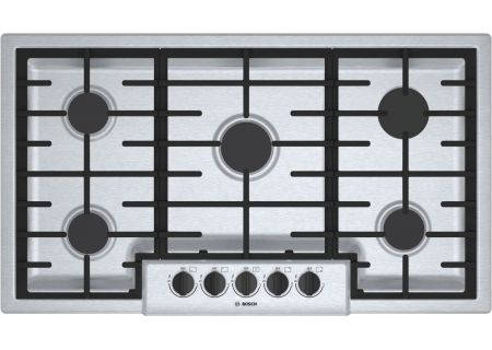 "Bosch 500 Series 36"" Stainless Steel 5 Burner Gas Cooktop - NGM5656UC"