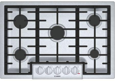 "Bosch 800 Series 30"" Stainless Steel 5 Burner Gas Cooktop - NGM8056UC"