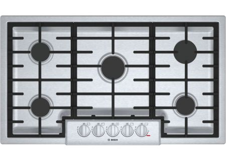 "Bosch 800 Series 36"" Stainless Steel Burner Gas Cooktop - NGM8656UC"