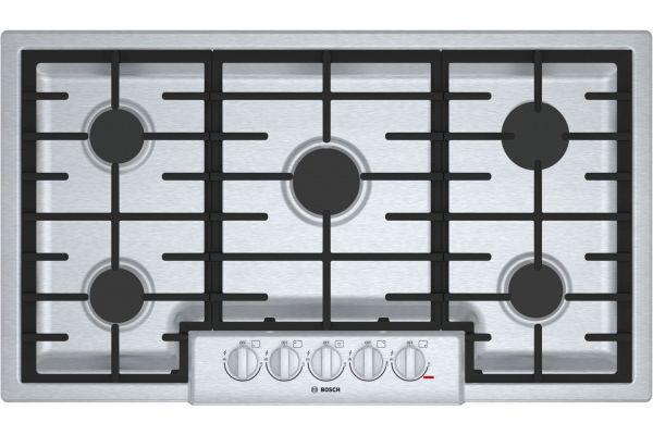 "Bosch 800 Series 36"" Stainless Steel Burner Gas Cooktop - NGM8656UC"