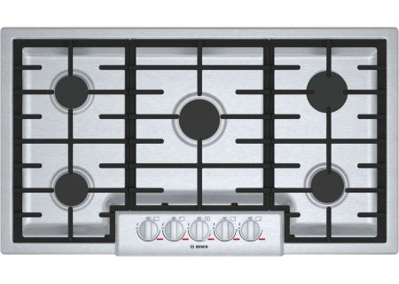 "Bosch Benchmark Series 36"" Stainless Steel 5 Burner Gas Cooktop - NGMP656UC"