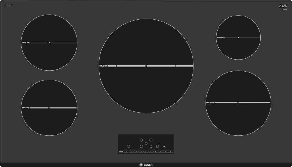 Bosch 36 Quot 500 Series Black Induction Cooktop Nit5668uc
