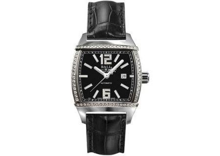 Ball Conductor Transcendent Diamond Black Womens Watch - NL1068D-DIA-L3AJ-BK