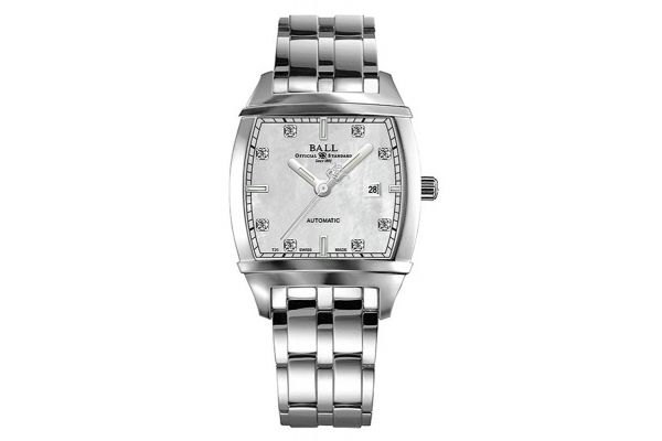 Ball Conductor Transcendent Diamond White Womens Watch - NL1068DS3JWH