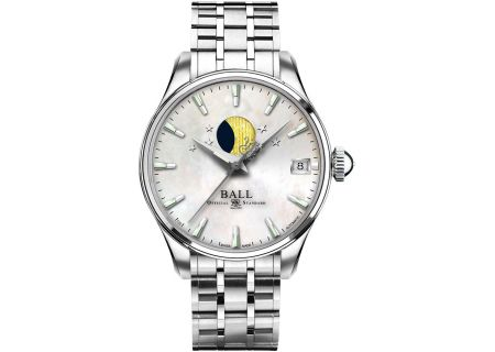 Ball Engineer Trainmaster Moonphase Mother-Of-Pearl Ladies Watch - NL3082D-SJ-WH