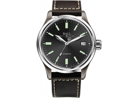Ball Trainmaster Titanium Black Dial Mens Watch - NM1038D-L5J-BK