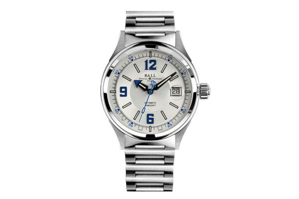 Large image of Ball Fireman Stainless Steel Racer Mens Watch  - NM2088CS2JWHBE