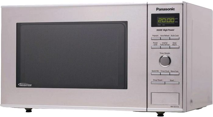 Panasonic Compact 0 8 Cu Ft Stainless Steel Countertop Microwave Oven Nn Sd372s