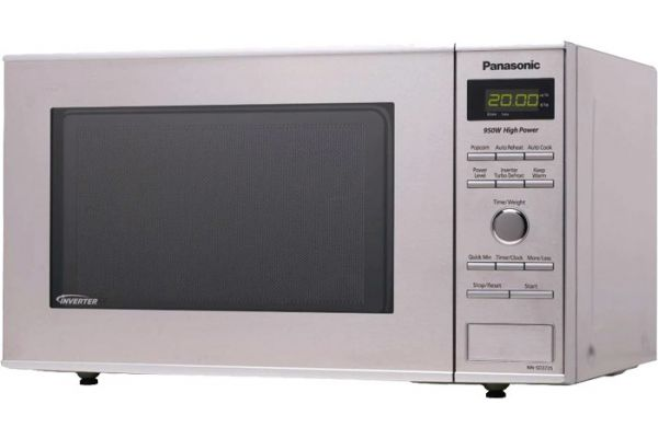 Panasonic Compact 0.8 Cu. Ft. Stainless Steel Countertop Microwave Oven - NN-SD372SR