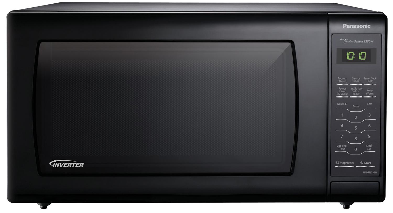 Panasonic 1.6 Cu. Ft. Black Countertop Microwave Oven - NN ...