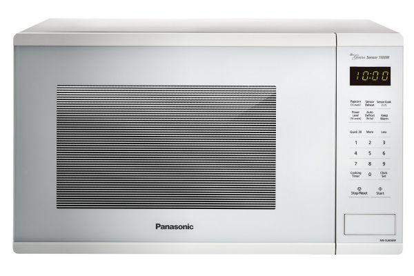 Panasonic White 1.3 Cu. Ft. Countertop Microwave Oven - NN-SU656W