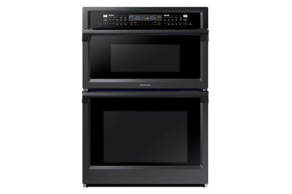 "Samsung 30"" Fingerprint Resistant Black Stainless Steel Built-In Combination Microwave Wall Oven - NQ70M6650DG"