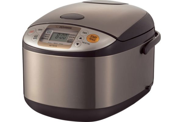 Zojirushi Micom Stainless Brown 10-Cup Rice Cooker And Warmer - NSTSC18