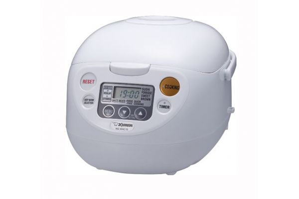 Large image of Zojirushi Micom Cool White 5.5-Cup Rice Cooker And Warmer - NSWAC10