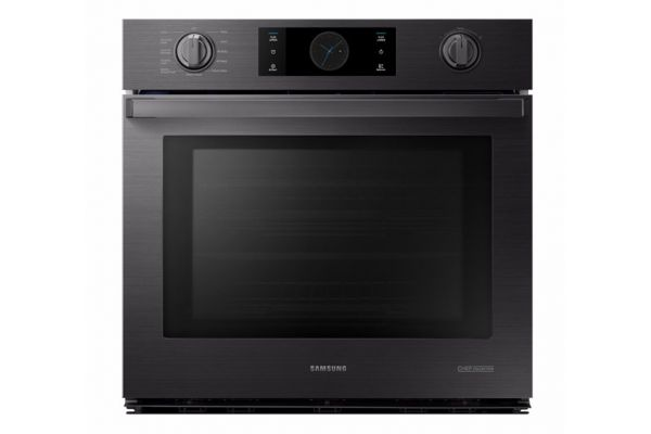 """Samsung Chef Collection 30"""" Matte Black Stainless Steel Single Wall Oven - NV51M9770SM"""