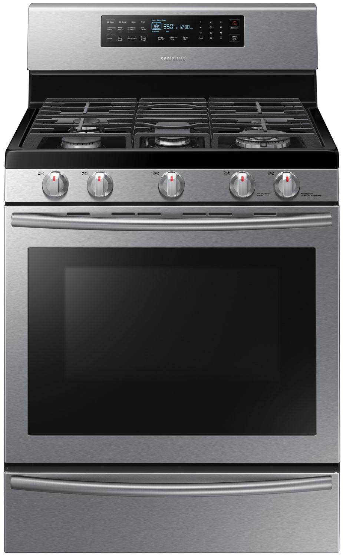 Gas Ranges >> Samsung Stainless Freestanding Gas Range - NX58H5650WS/AA