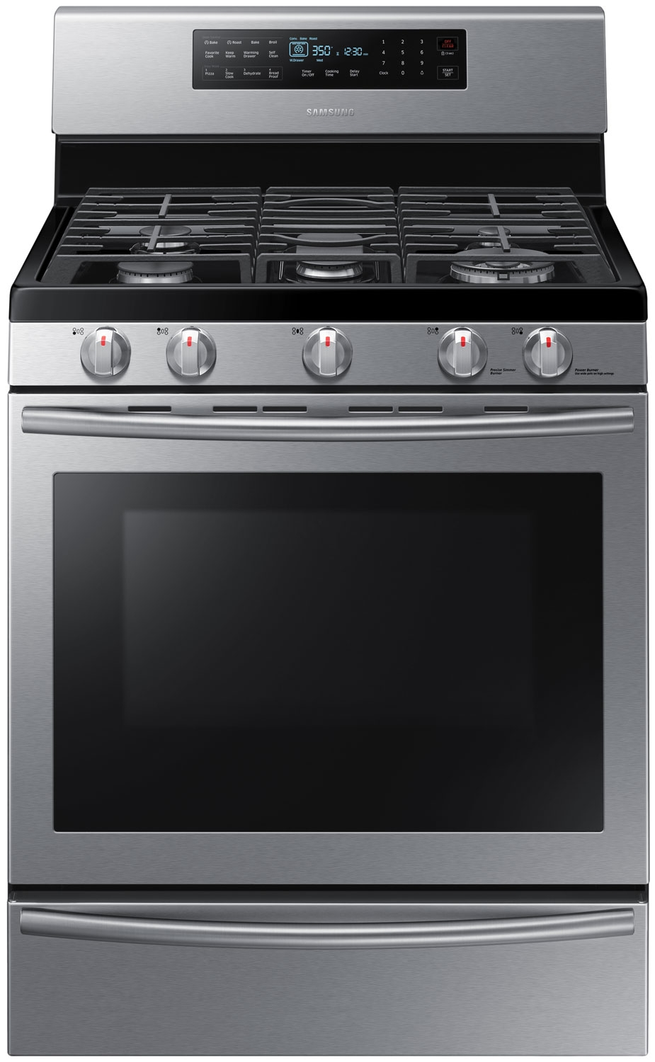 Samsung Stainless Freestanding Gas Range Nx58h5650ws Aa
