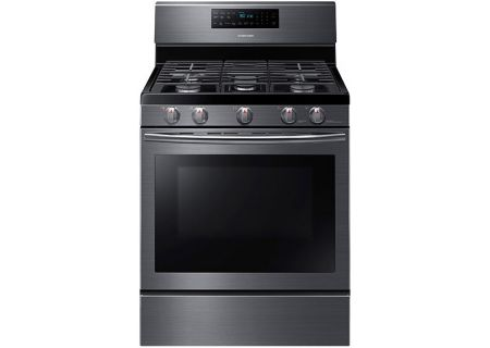 Samsung Fingerprint Resistant Black Stainless Steel Freestanding Gas Convection Range - NX58J5600SG/AA