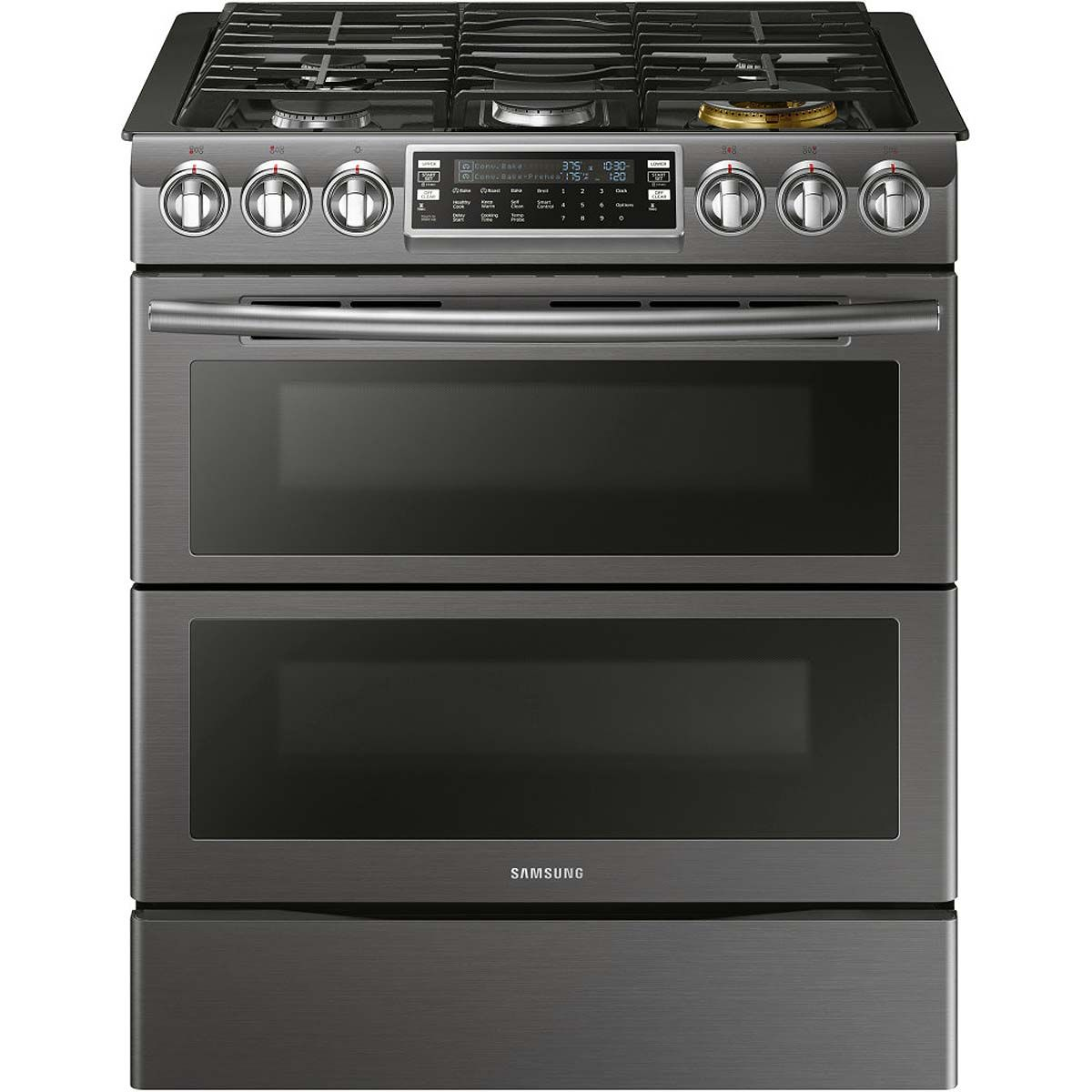 Samsung Black Stainless Slide In Gas Range Nx58k9850sg