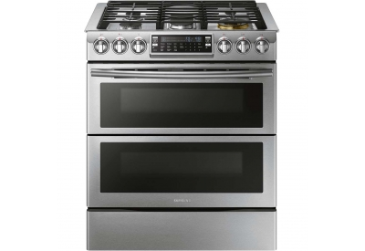 Samsung - NX58K9850SS - Slide-In Gas Ranges