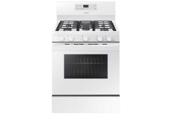 Samsung 5.8 Cu. Ft White Freestanding Gas Range - NX58M5600SW