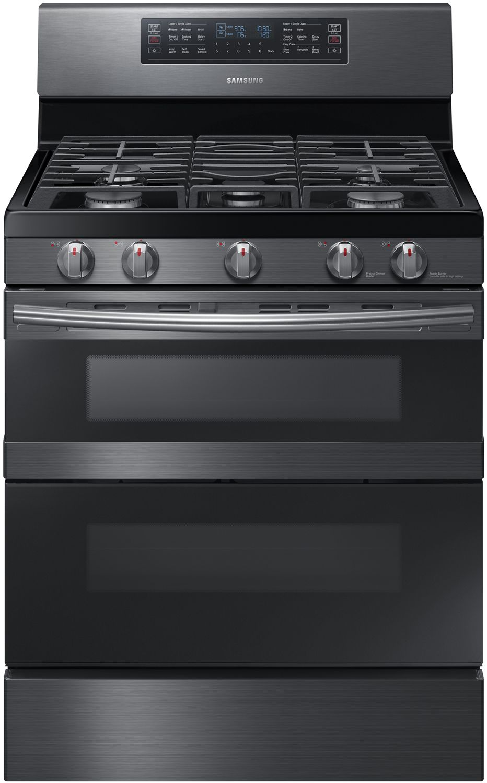 Samsung Black Stainless Flex Duo Gas Range Nx58m6850sg
