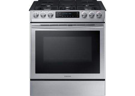 Samsung - NX58M9420SS - Slide-In Gas Ranges