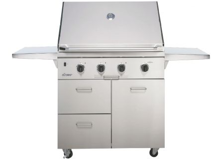 "Dacor Discovery 36"" Stainless Steel Natural Gas Built-In Outdoor Grill - OB36SS"