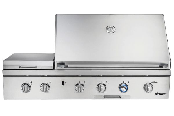 """Large image of Dacor 52"""" Stainless Steel Natural Gas Built-In Outdoor Grill - OBS52/NG"""