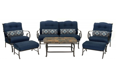 Hanover - OCEANA6PC-NVY - Patio Seating Sets