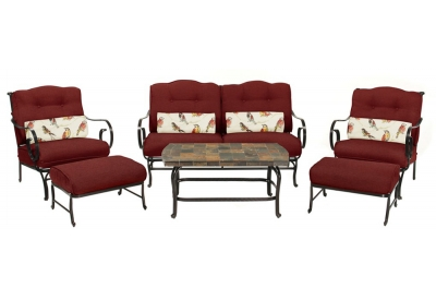 Hanover - OCEANA6PC-RED - Patio Seating Sets