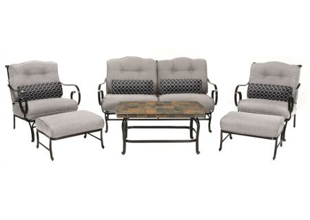 Hanover - OCEANA6PC-SLV - Patio Seating Sets