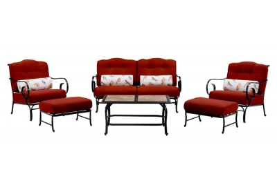 Hanover - OCEANA6PC-TL-RED - Patio Furniture