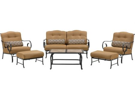 Hanover - OCEANA6PC-TL-TAN - Patio Seating Sets
